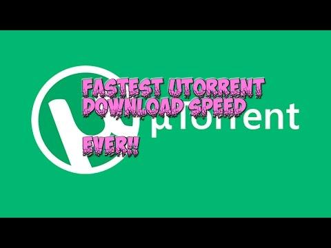 how to improve utorrent download speed