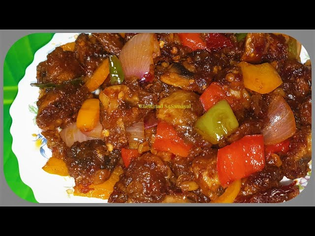 Chilli Mushroom  Dry/காளான் சில்லி /மிளகாய் காளான் உலர் ரெசிபி/Kaalan Chilli Recipe