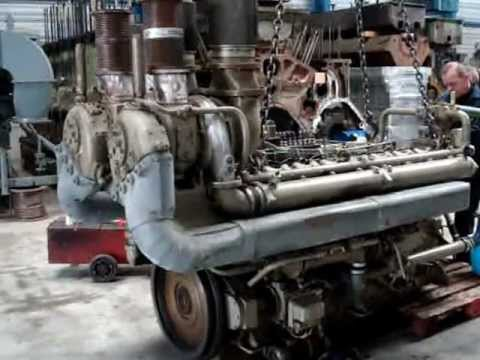 MWM TRHS 518-V16 DIESEL ENGINE TRIAL RUN UNLOADED