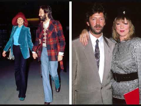 """Eric Clapton Pattie Boyd and George Harrison""""At the Crossroads""""This song dedicated to them"""