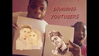 SPEED DRAWING YOUTUBERS CHALLENGE!!! (ACE FAMILY, SHANE DAWSON, LILLY SINGH)