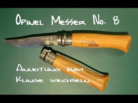 opinel messer no 8 anleitung klinge tauschen youtube