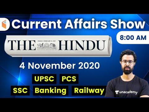 8:00 AM - Daily Current Affairs 2020 by Bhunesh Sharma | 4 November 2020 | wifistudy