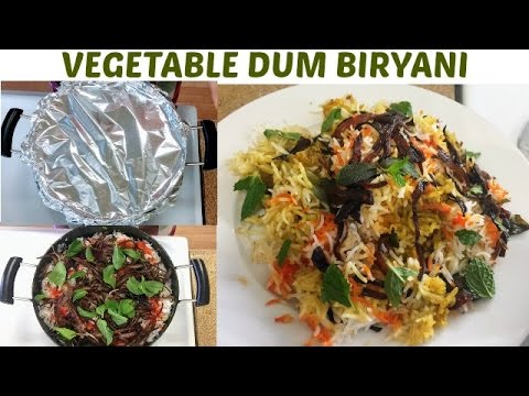 Vegetable Dum Biryani Recipe-veg Biryani -step By Step Veg Biryani In Hindi With English Subtitles