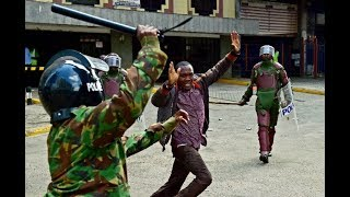 Report on severe police brutality against innocent protesters.