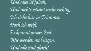 Panik - Unsere Zeit (+ lyrics)