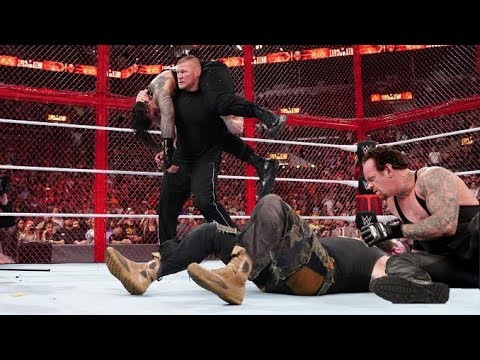 omg the undertaker returns chokeslam braun strowman roman