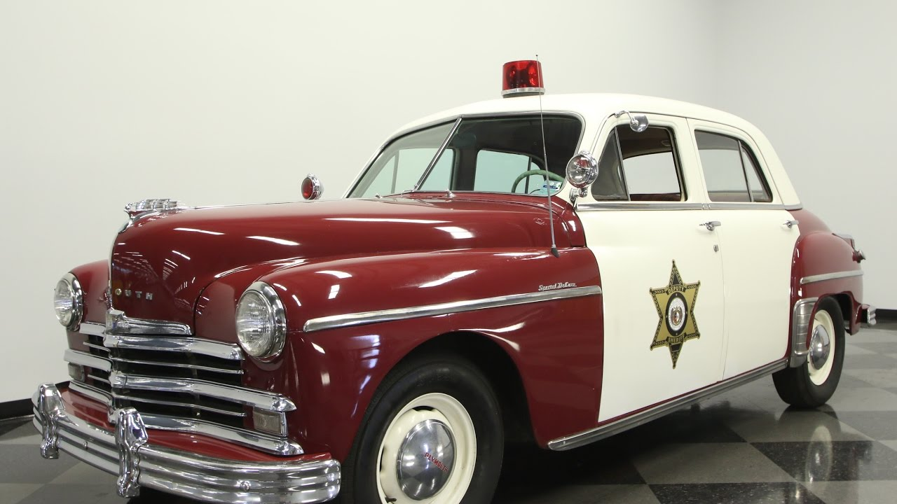 713 Tpa 1949 Plymouth Special Deluxe Police Car Youtube