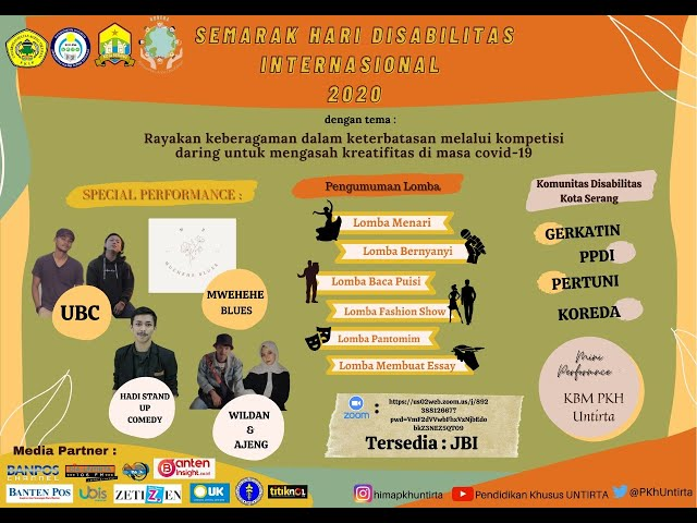 LIVE STREAMING SEMARAK HARI DISABILITAS INTERNASIONAL 2020 // HIMA PKH UNTIRTA