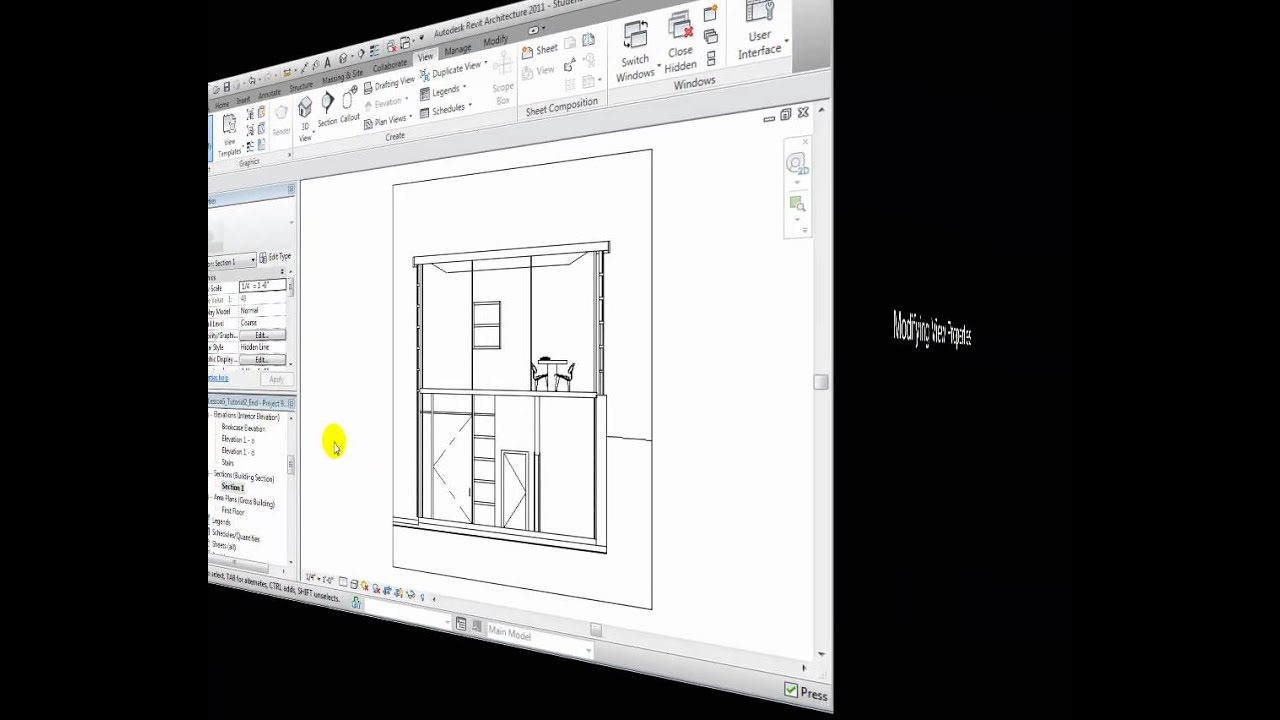 Revit architecture creating elevation and section views