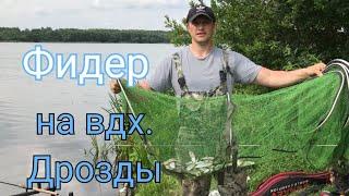Фидерная рыбалка на водохранилище Дрозды Летняя рыбалка ловля разнорыбицы Рыбалка в Беларуси