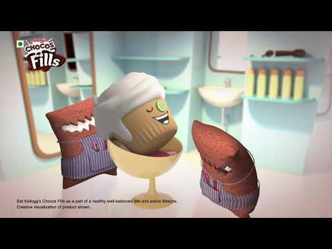 Kellogg's Fills Choco Vanilla -  Haircut toh bahana ha.. Inhe toh bas creamy hi khana hai