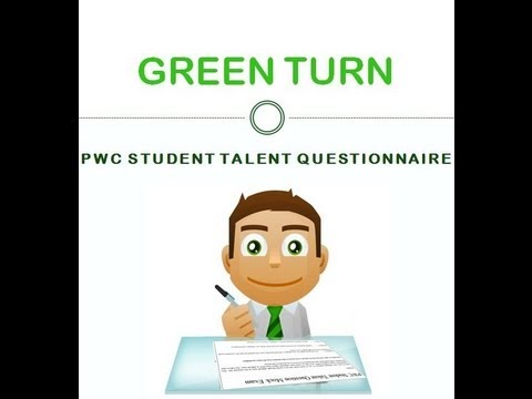 PWC Student Talent Questionnaire STQ & OPQ Tests Guidance To Pass In