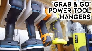 Hanging Power Tool Storage - DIY Workshop Project || Quick Cuts