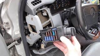 №3/Снятие переключателя света Mercedes W210 Headlight switch removal