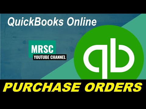 Purchase Orders - QuickBooks Online