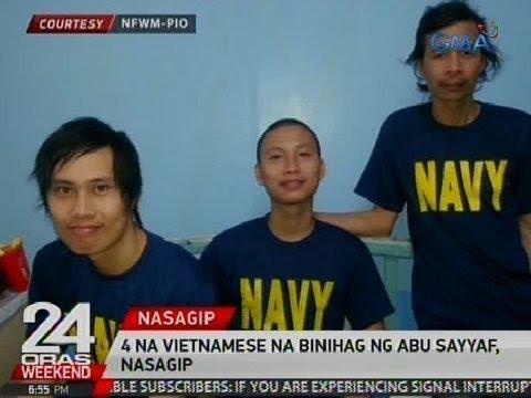 24 Oras: 4 na Vietnamese na binihag ng Abu Sayyaf, nasagip
