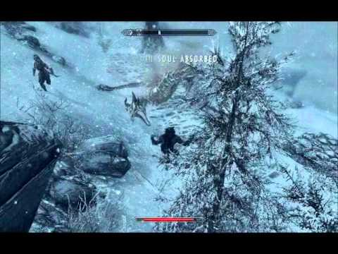 The Elder Scroll V Skyrim Dragon Vs Lycan Extended Edition Youtube