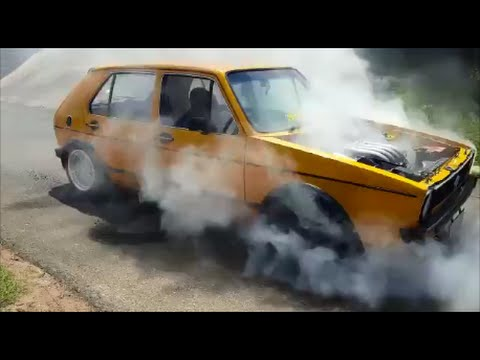 Golf MK1 burnout in Durban!