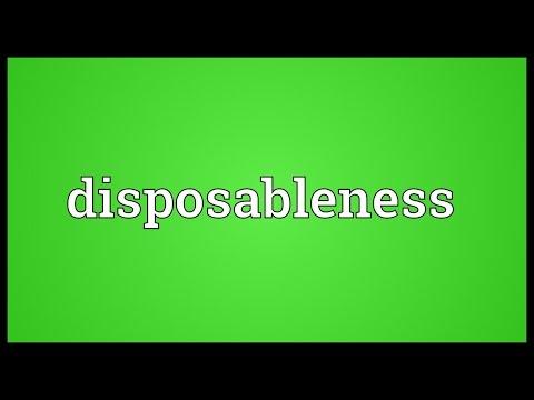 Header of disposableness