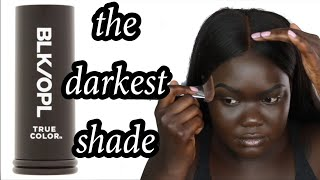Black Opal True Color Stick Foundation Review || NYMA TANG #thedarkestshade