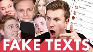 REACTING TO FAKE YOUTUBER TEXT MESSAGES (PART 2)