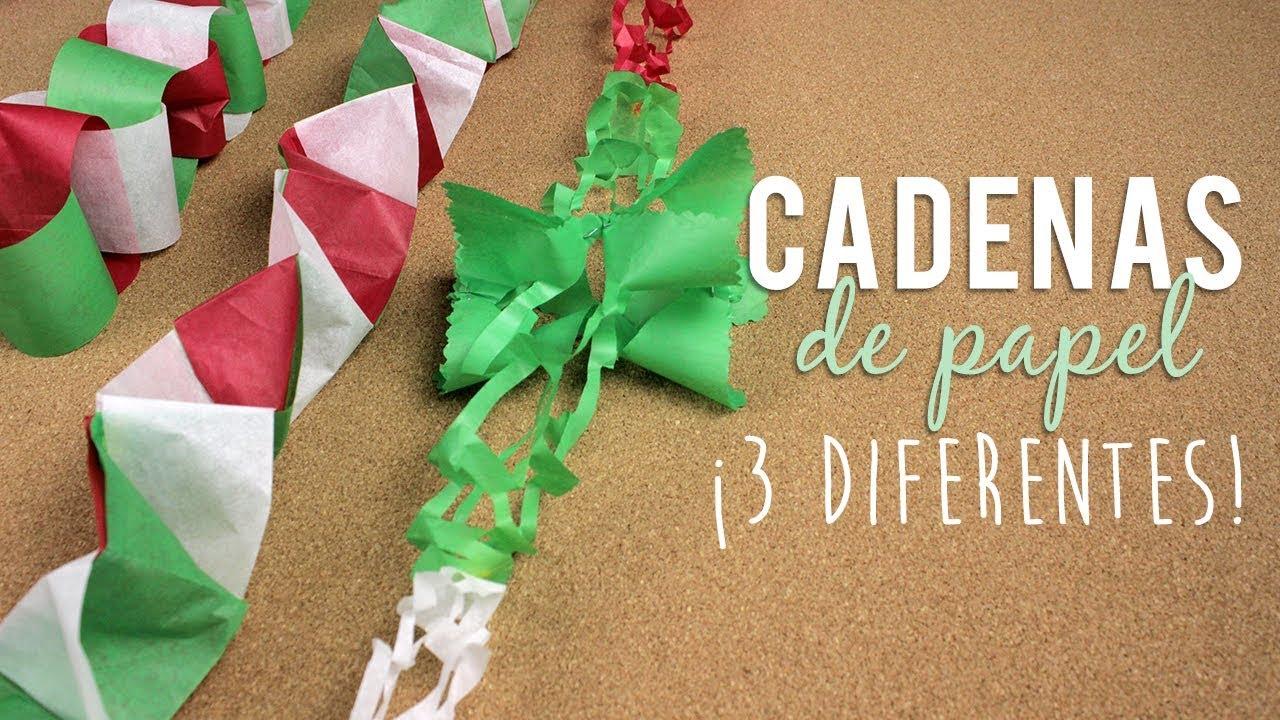 Cadenas de papel guirnaldas decorativas fiestas mexicanas independencia de m xico youtube - Como decorar un salon en navidad ...