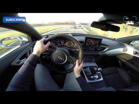 Audi RS7 Sportback - Acceleration & Sound on Autobahn POV
