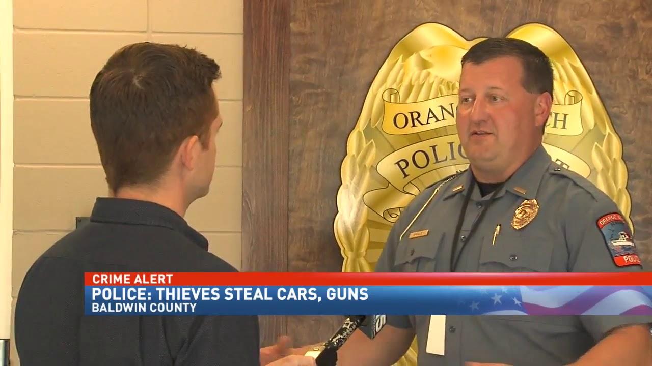 Thieves steal guns and cars during Orange Beach, Gulf Shores break-ins -  NBC 15 News WPMI