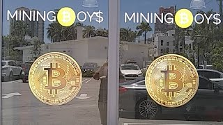 One Bitcoin (Physical) Give away! with Cryptocurrency Mining Boys Miami.