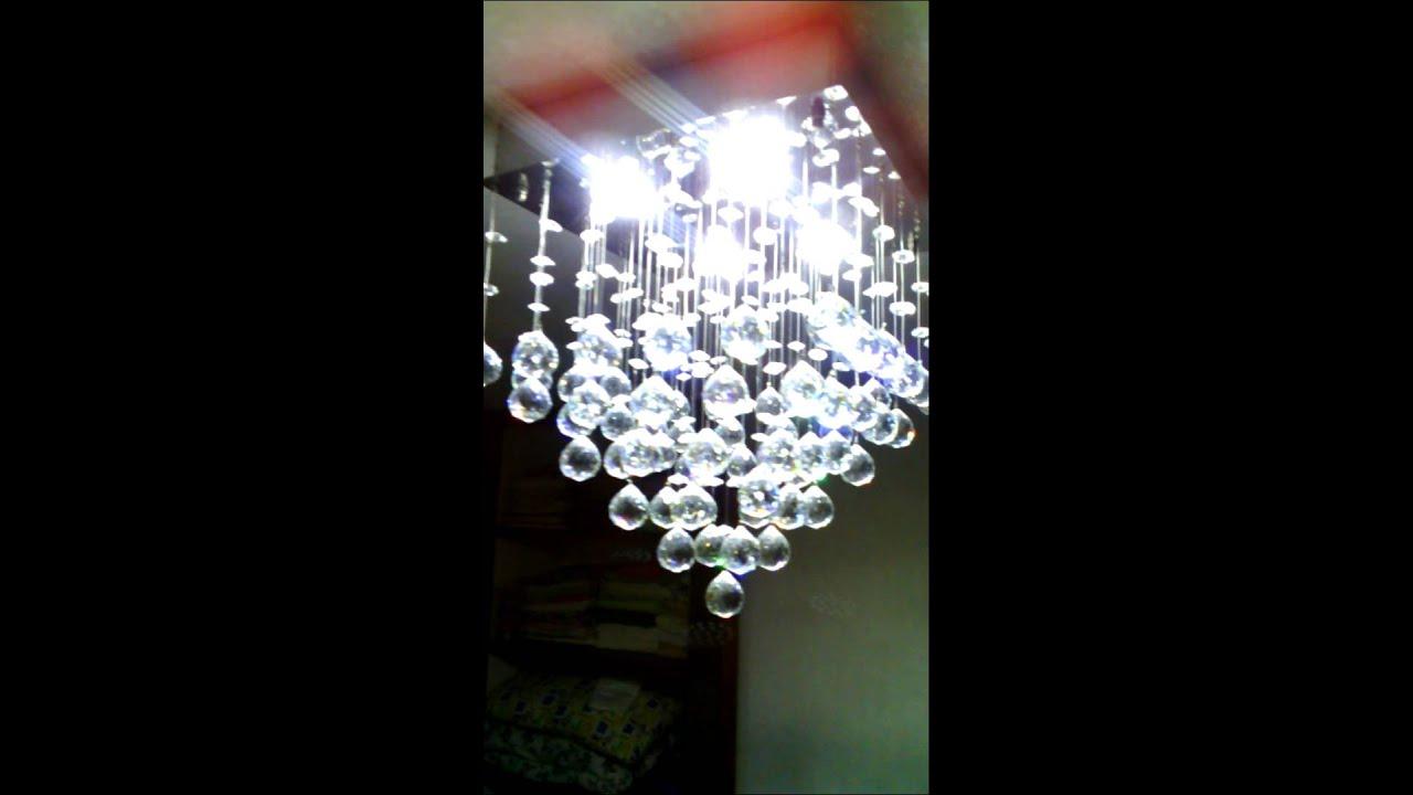 Lamparas modernas en cristal y acero youtube - Lamparas arana modernas ...