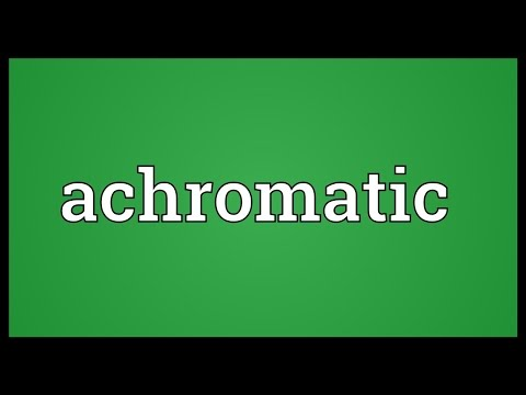 Achromatic Meaning