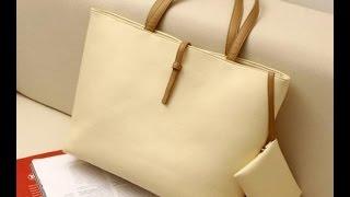 Обзор стильной сумки =с ключницей= бежевого цвета