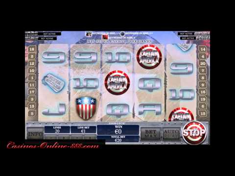 Captain America Slot By Playtech - Casinos-Online-888.com