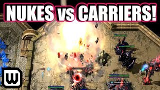 Starcraft 2: NUKES vs CARRIERS! (TY vs Parting)