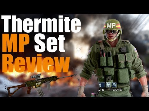 Rainbow Six Siege- Thermite Military Police Set Review