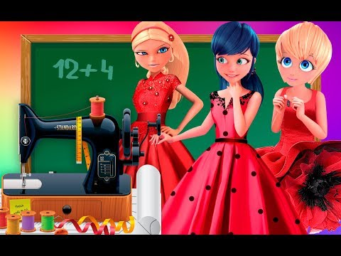 Miraculous Ladybug |School cheatting | Competition How to sew a dress Transform Animation