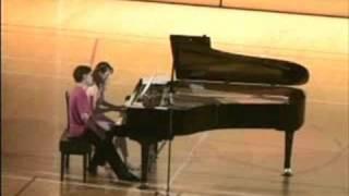 小栗克裕 (Katsuhiro Oguri) :ピアノ連弾のための「3つのメロディー」 (Trois Melodies pour piano a 4 Mains) より2曲目「歌」(Chant (song)) 前川恵 検索動画 28