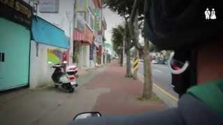 around jeju island on a scooter