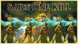 5 Ezreal Ult One Kill - ONE FOR ALL!!!