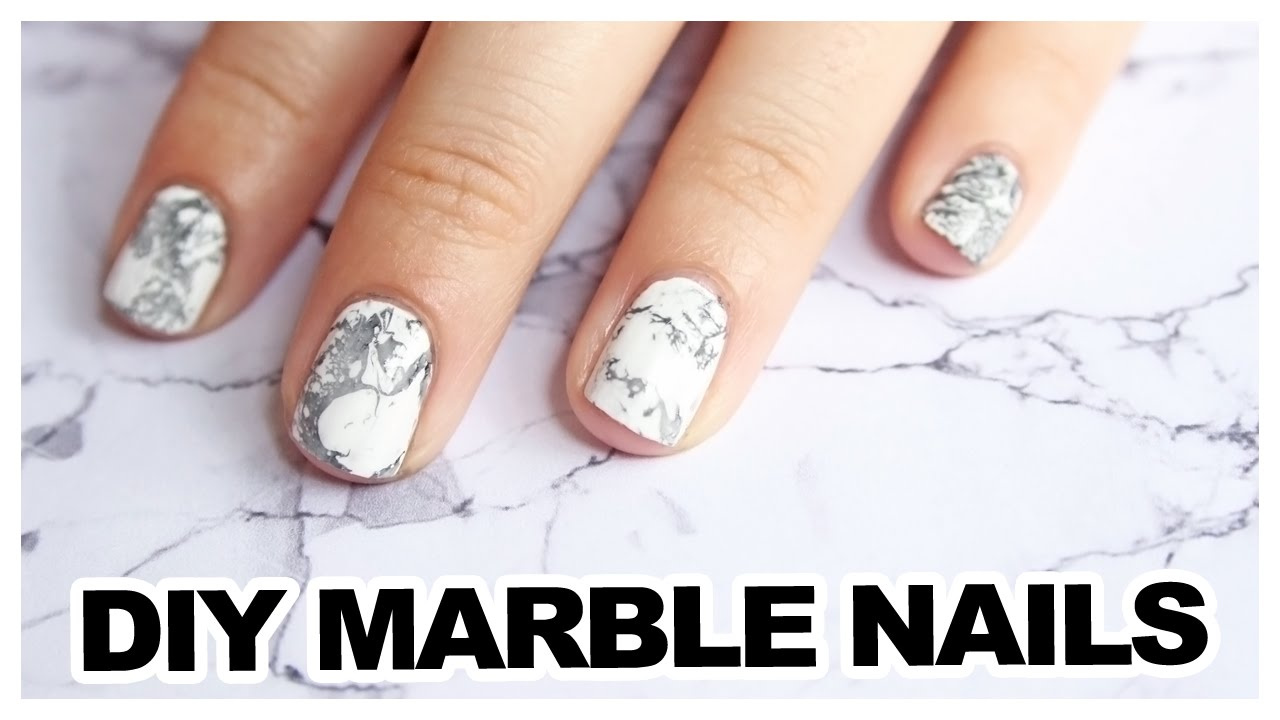 How To Water Marble Nail Art Youtube