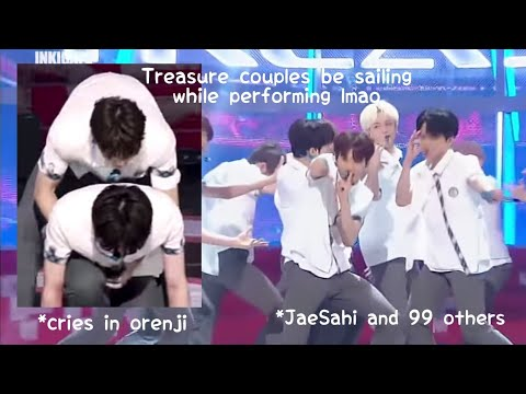 THINGS YOU DIDN'T NOTICE ON STAGE PERFORMANCES (Treasure ships flirting while performing?)