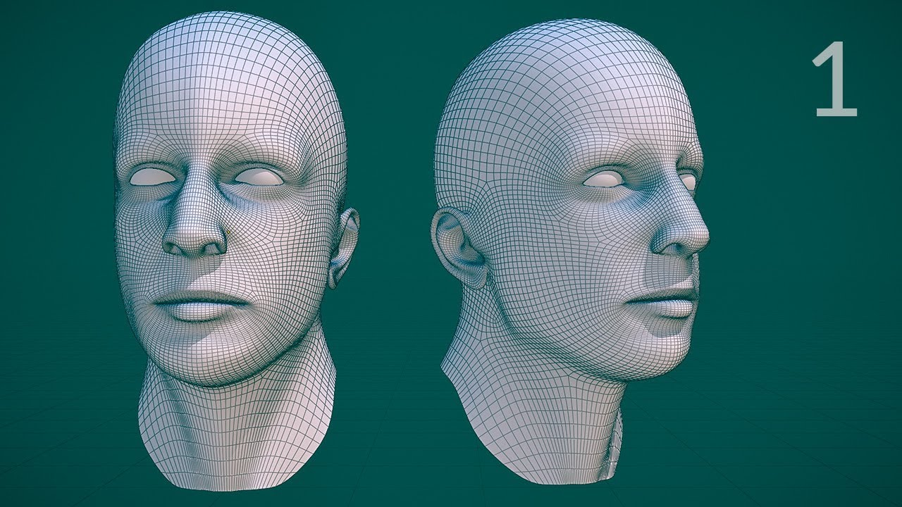 how to make a human head in blender