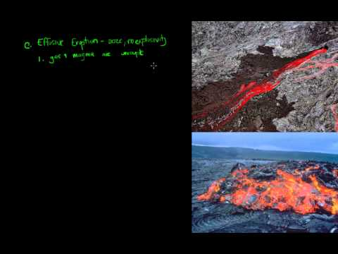 Intro to Geology lecture on volcanic eruptions