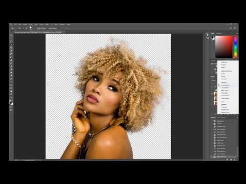 Photoshop Refine Edge Tutorial | Photoshop CC 2017