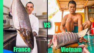 Giant Cobia Challenge!!! | FRENCH CHEF vs VIETNAMESE CHEF