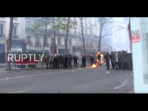 France: Molotov cocktails strike police officers amid clashes at Paris protest