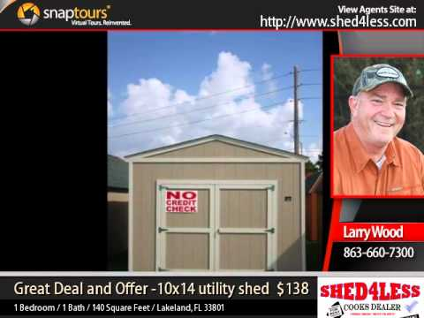 Shed4less great deal and offer 10x14 utility shed youtube for Sheds 4 less