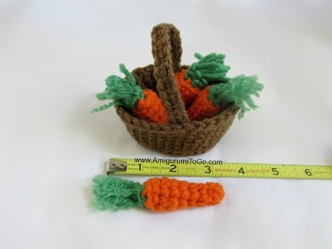 Amigurumi Basket of Carrots