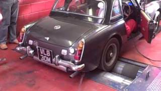 My K-series MG Midget on rolling road